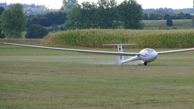 D-KSSI Segelflugzeug Landung