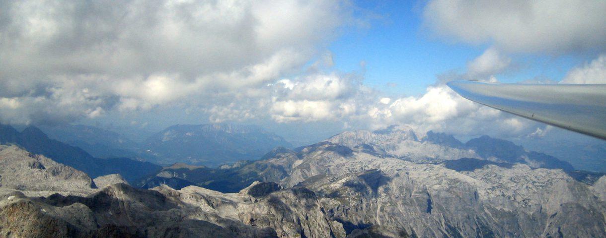 Segelflugzeug Alpenflug